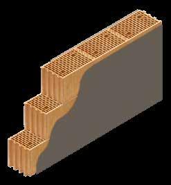 Кладка стены из керамических блоков KERAKAM 25XL