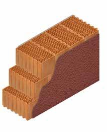 Кладка стены из керамических блоков KERAKAM 44 с декоративной фасадной штукатуркой